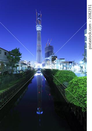 塔 东京晴空塔 天线杆