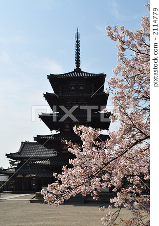 五重塔 法隆寺 寺院-图片素材 [2114779] - pixta