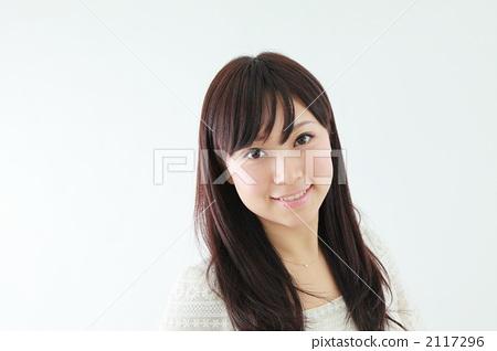 图库照片: 美发剪发·护理模特通用图片