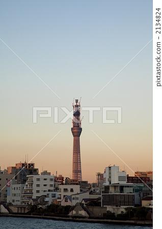 晴空塔 东京闹市区