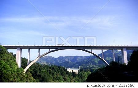 照片素材(图片): 弓形 桥 桥梁