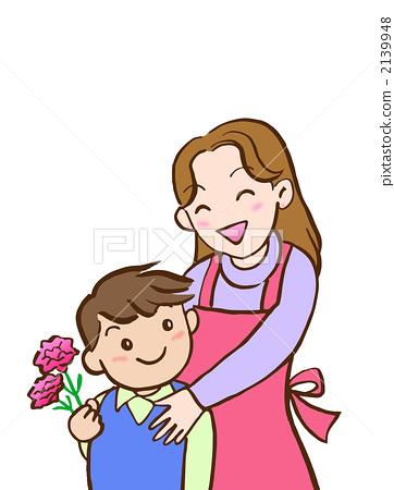 母亲节 父母和小孩 家庭