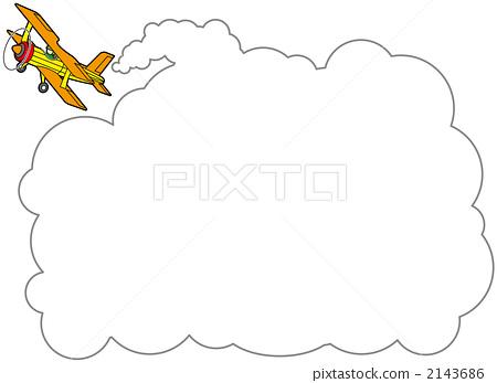 图库插图: 飞机上的广告