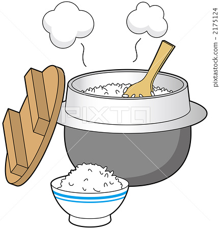 一碗米饭 矢量图