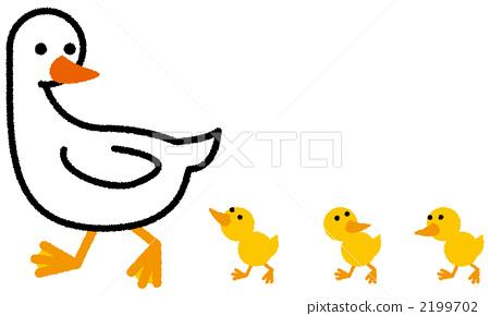 父母和小孩 鸭 鸭子