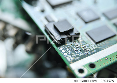 图库照片: 电气部件 电路 印刷电路板