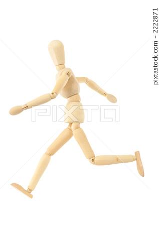 行为_动作 跑步 奔跑者 素描娃娃 洋娃娃  *pixta限定素材仅在pixta