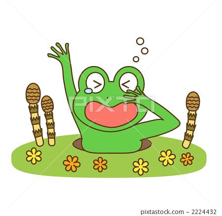 插图素材: 青蛙 简约 简单