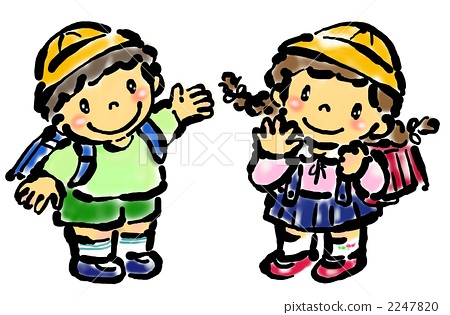 图库插图: 小学生 小学一年级学生 帽子图片