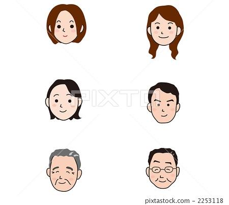 插图素材: 人脸 脸部 脸