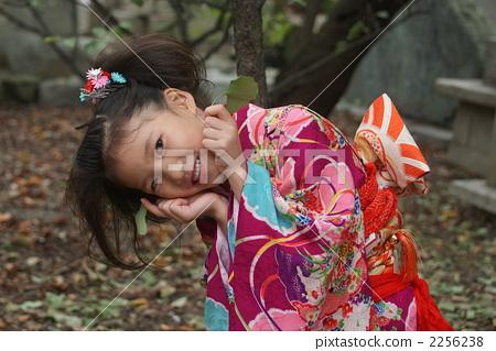 微笑 秋天 儿童