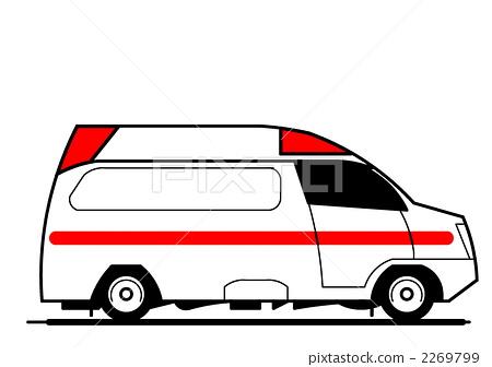 卡通救护车插画素材卡通救护车图片
