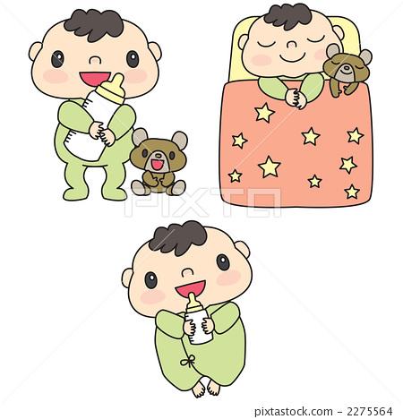 图库插图: 婴儿 宝宝 宝贝