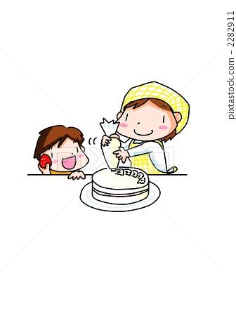 做蛋糕 家庭