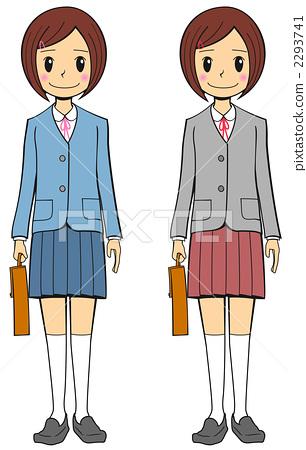 高中 学生 stock 插图