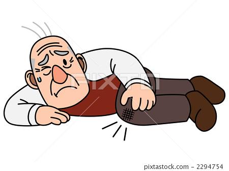 老人 首页 插图 人物 男女 老年人 伤害 受伤 老人  *pixta限定素材仅