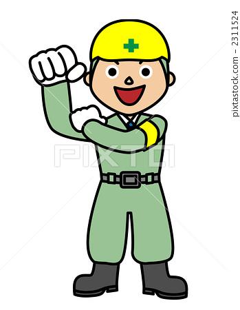 卡通安全帽简笔画,带着安全帽的卡通小人,安全帽卡通人物 第13页