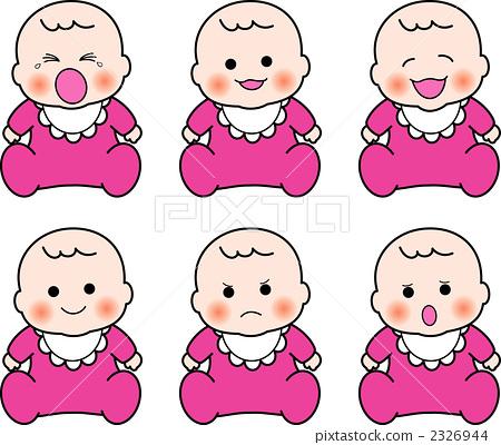 插图: 孩子 女婴 动物宝宝