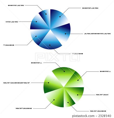 插图 商务_工作 商务用品 用品 饼状图 图形 图表  *pixta限定素材仅