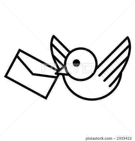 简易手绘图片小鸟