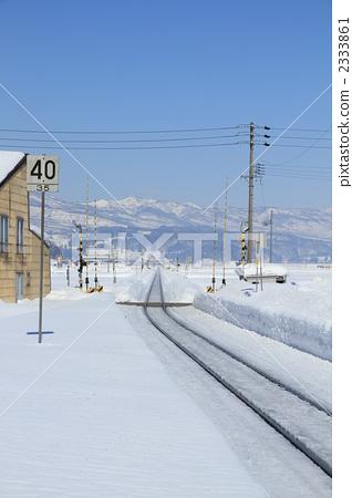 交通设施_建筑 铁路 铁路道口 平交路口 铁路道口闸  *pixta限定素材