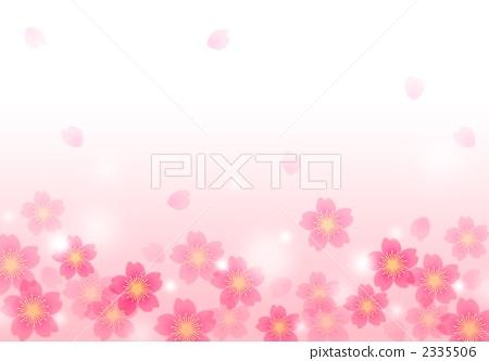 图库插图: 樱花边框图案