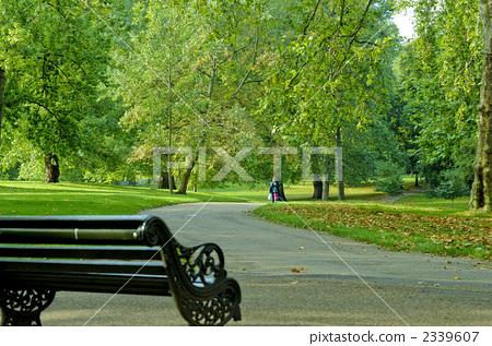 图库照片: 车道 跑道 绿色公园