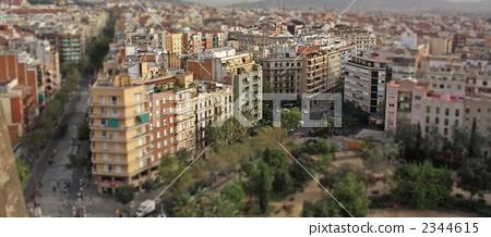 巴塞罗那 透视画 街道-图片素材 [2344615] - pixta