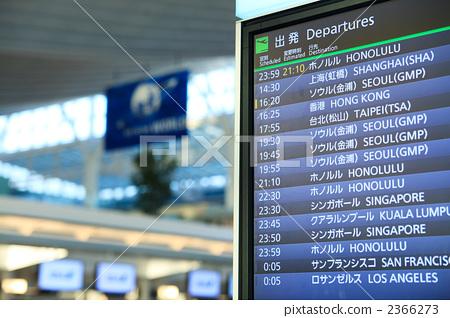 图库照片: 东京国际机场 电子公告板 机场