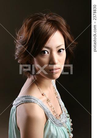 发型模特 人