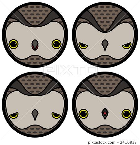动物宝宝 图标 猫头鹰