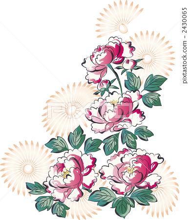 图库插图: 牡丹 花朵 花卉