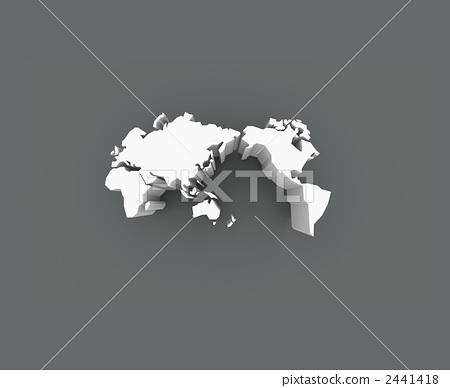 空白地图 世界地图 轮廓图