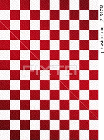 插图素材: 在saaya类型的红色和白色格子