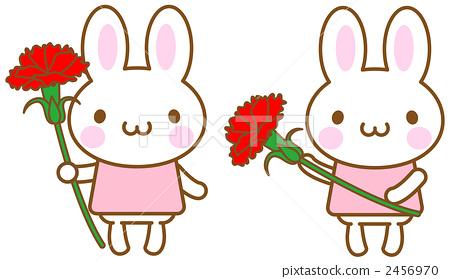 母亲节 花朵 绘画插图