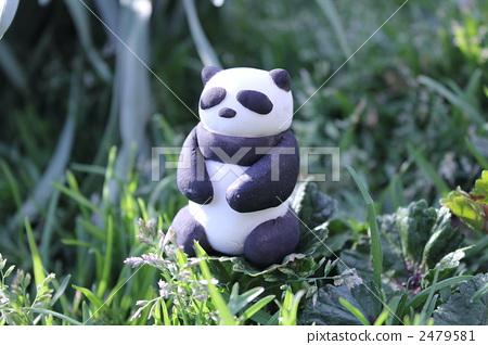图库照片: 熊猫 动物 纸粘土