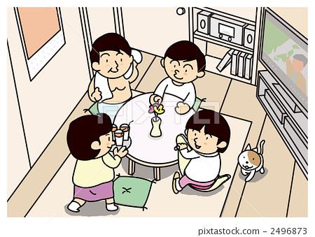 客厅 漫画简笔画