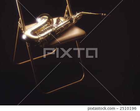 中音萨克斯 乐器 椅子