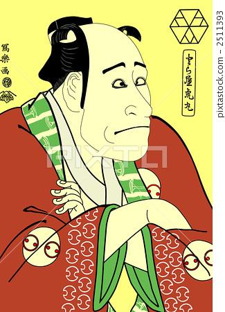 插图素材: 浮世绘 日本画 歌舞伎