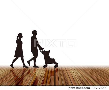 家庭 父母和小孩 爸爸