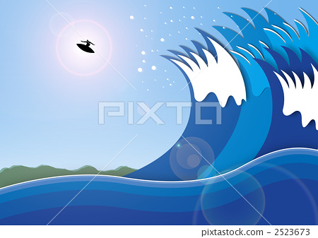 插图素材: 跳 海浪 波浪