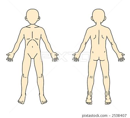 人体手绘儿童服装设计