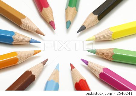 图库照片: 文具 彩色铅笔 绘画材料