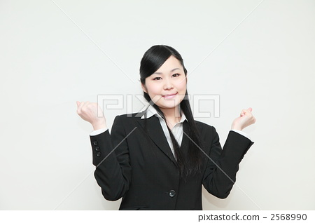 照片素材(图片): 事业女性 握拳 女生