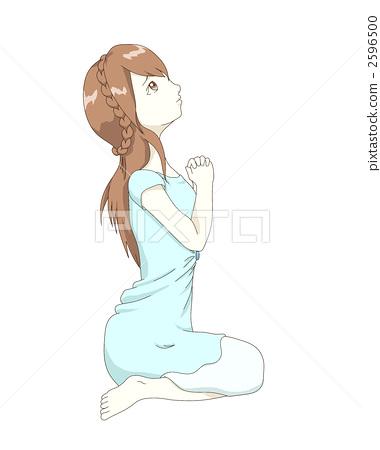 首页 插图 人物 男女 情侣/夫妻 祈祷 女生 女孩  *pixta限定素材仅在