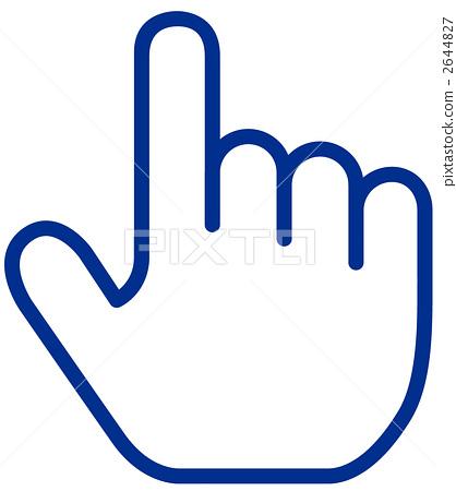 插图素材: 光标 食指 右手
