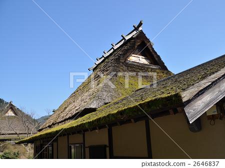 照片素材(图片): 民居 日式房屋 屋顶