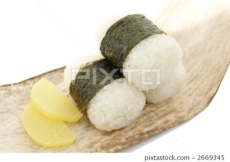 照片素材(图片): 饭团 便当 日式便当