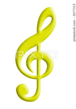 高音谱号 g调号 音乐标记