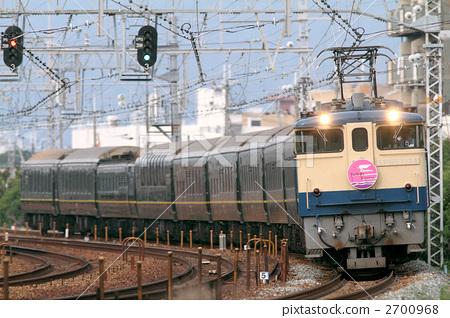 图库照片: 电机 卧车 东海道本线